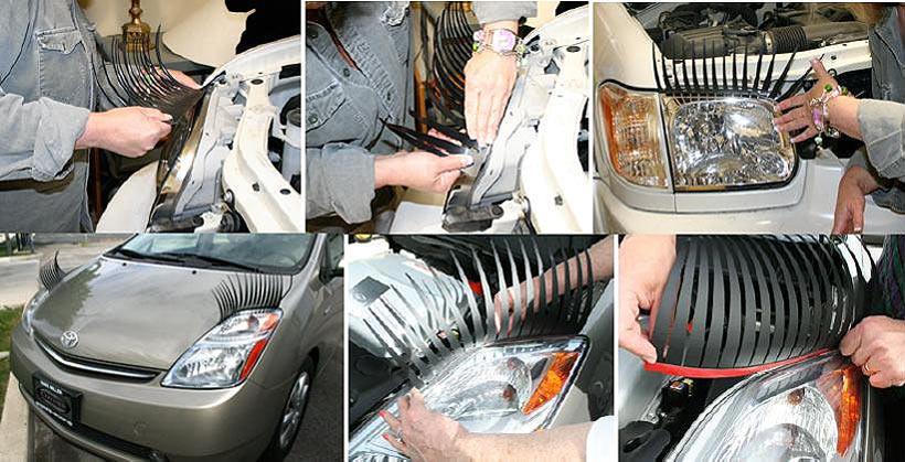 Как сделать ресницы для авто