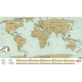 Скретч карта мира на английском языке